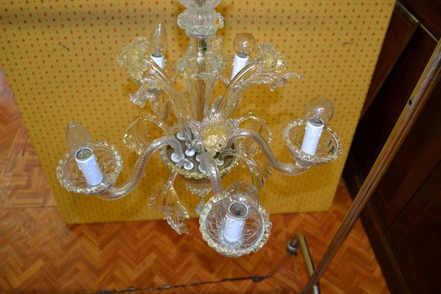 Lampadario Antico Murano : Il paralume marina lampadari in vetro di murano daniela in oro